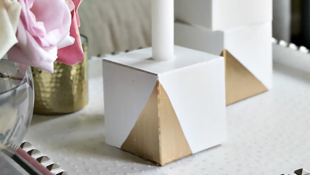 bougeoir cube bois diy