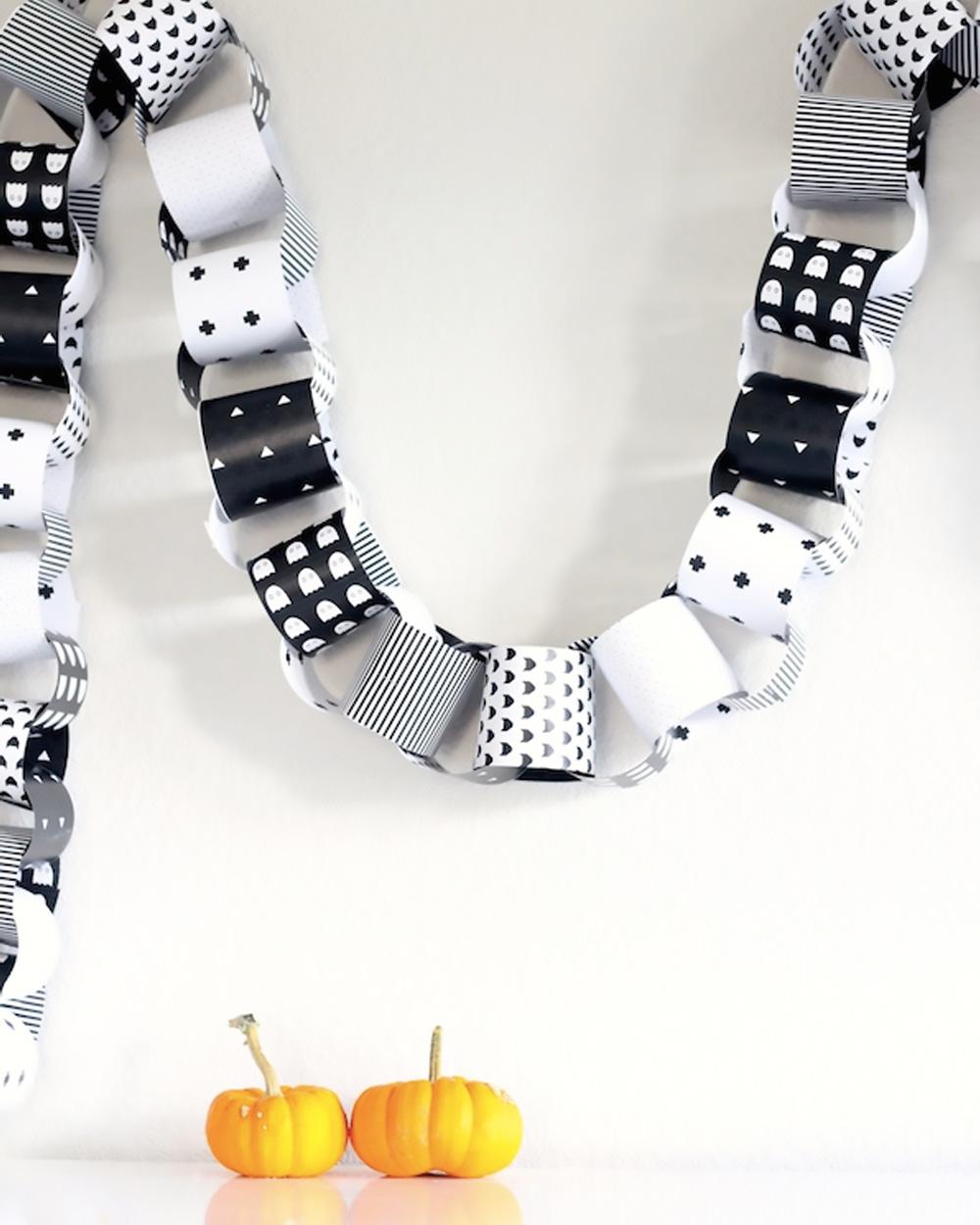 guirlande papier diy halloween