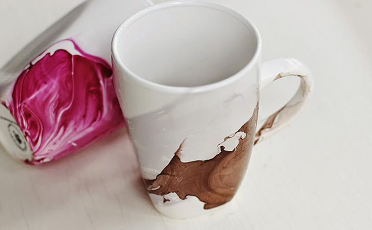 mug watercolor diy