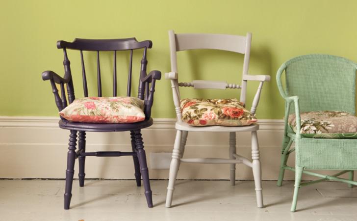 chaise bois colorée diy