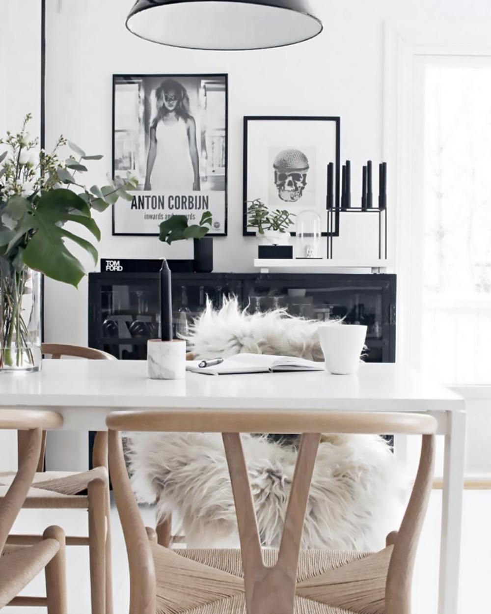 Deco Noir Et Blanc un séjour noir et blanc | shake my blog