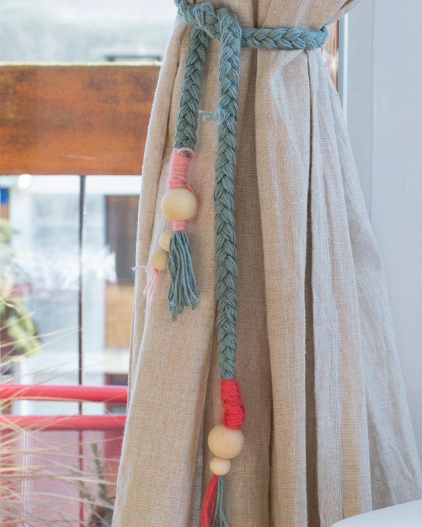 embrasse rideau diy tresse perle
