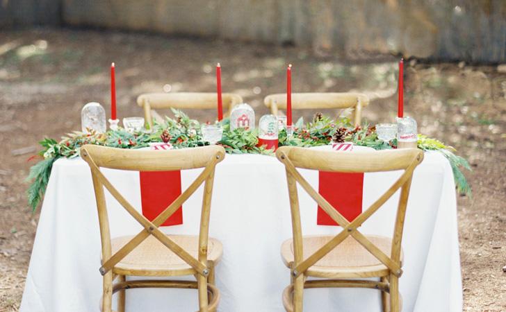 deco table sobre elegante noel