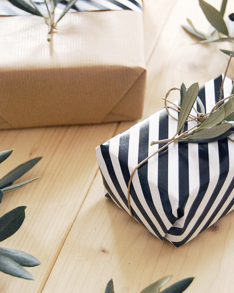paquet cadeau végétal diy noel
