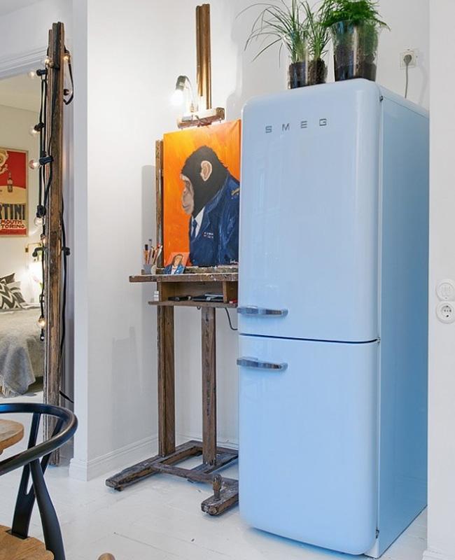 deco scandinave boheme vintage frigo smog