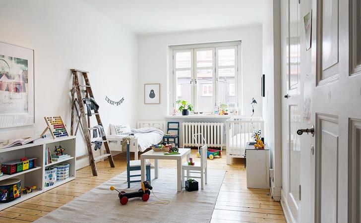 deco chambre enfant blanc scandinave