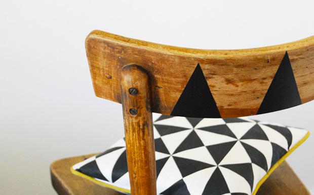 chaise géométrique diy