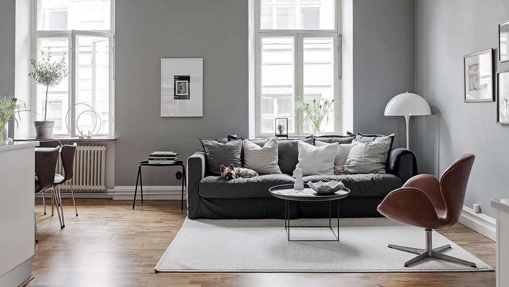 deco scandinave gris blanc