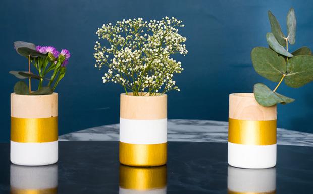 vase bois diy