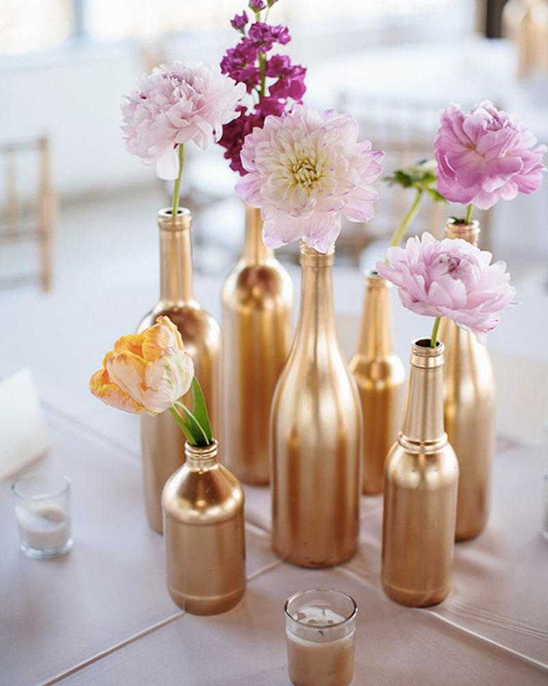 centre table mariage diy bouteille