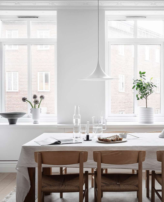 deco séjour salle à manger scandinave moderne bois