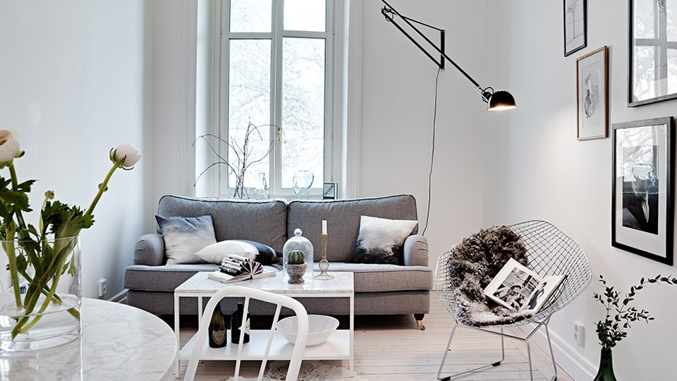 deco contemporaine gris blanc