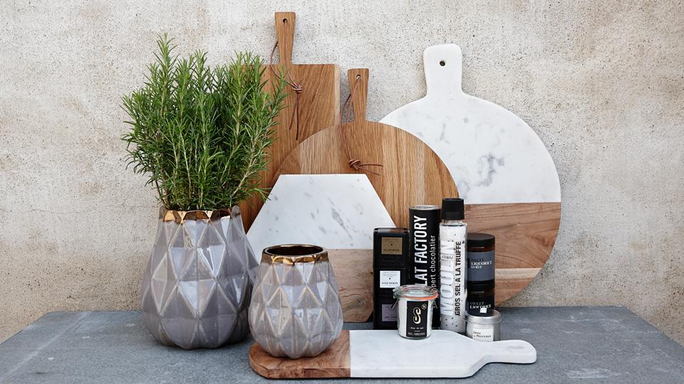 selection deco marbre bois