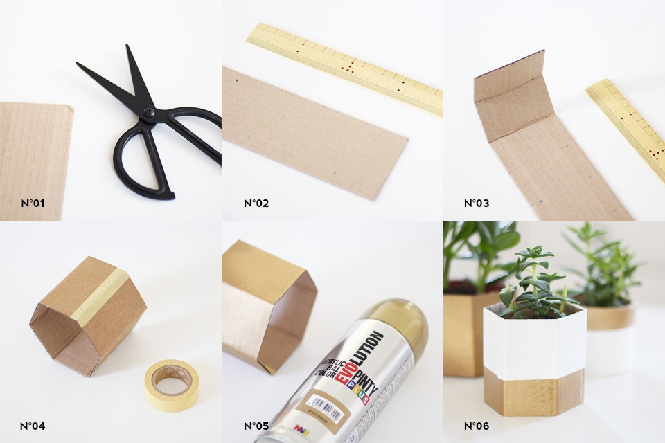 cache pot carton ceramique diy