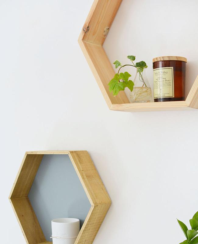 étagère murale géométrique diy