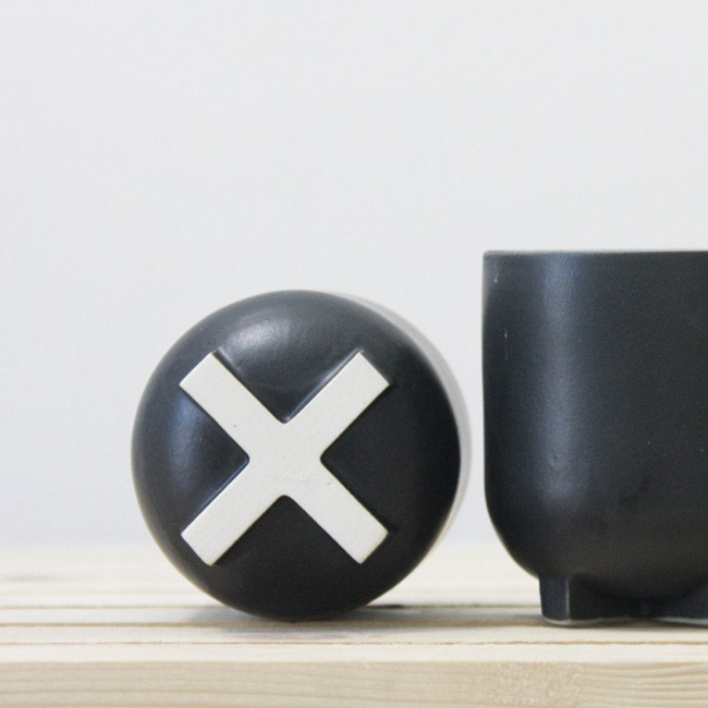 céramique one and many etsy tasse express noir croix blanche