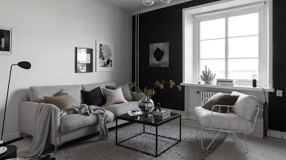 deco contemporaine contraste noir blanc