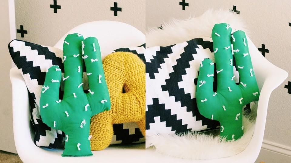 diy cactus coussin