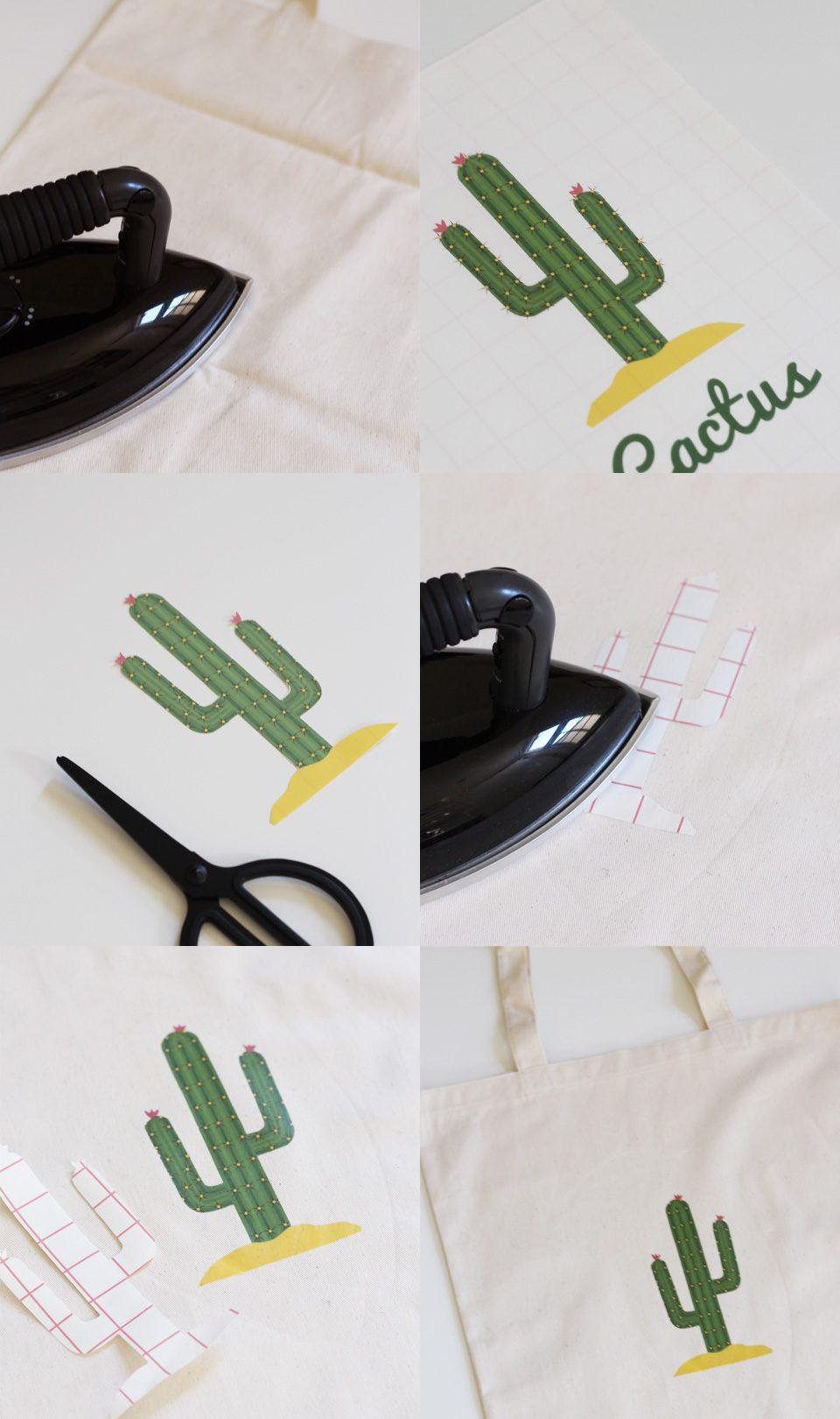 totebag cactus diy