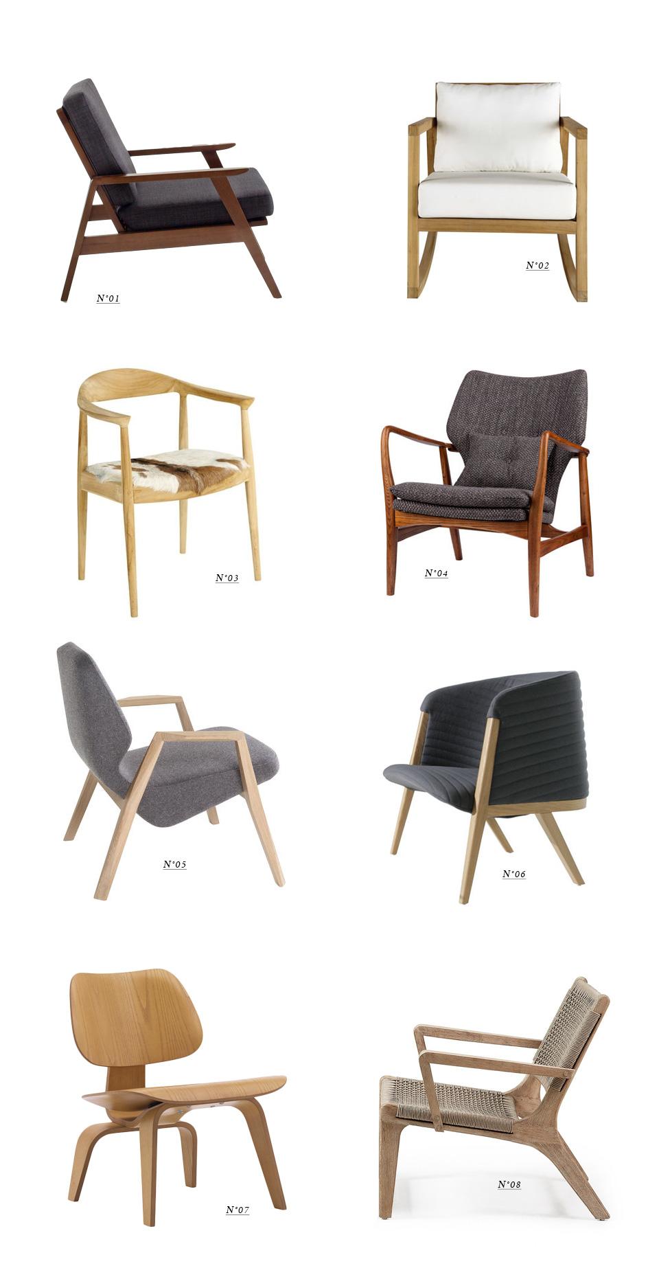 fauteuil bois deco