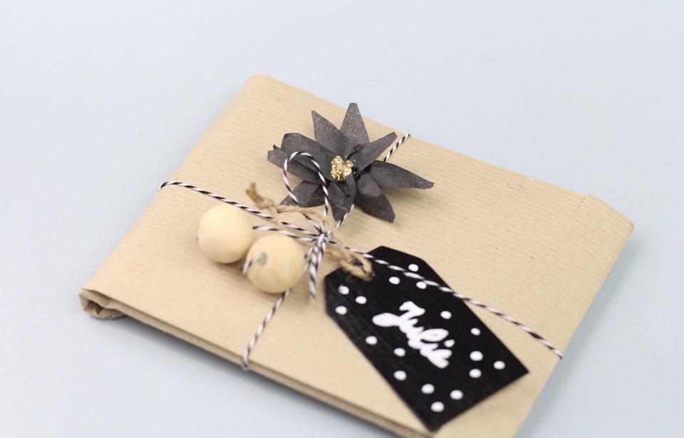 paquet cadeau noel diy