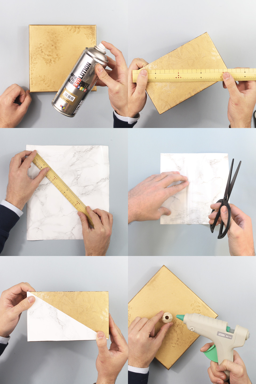 boîte dorée marbre diy