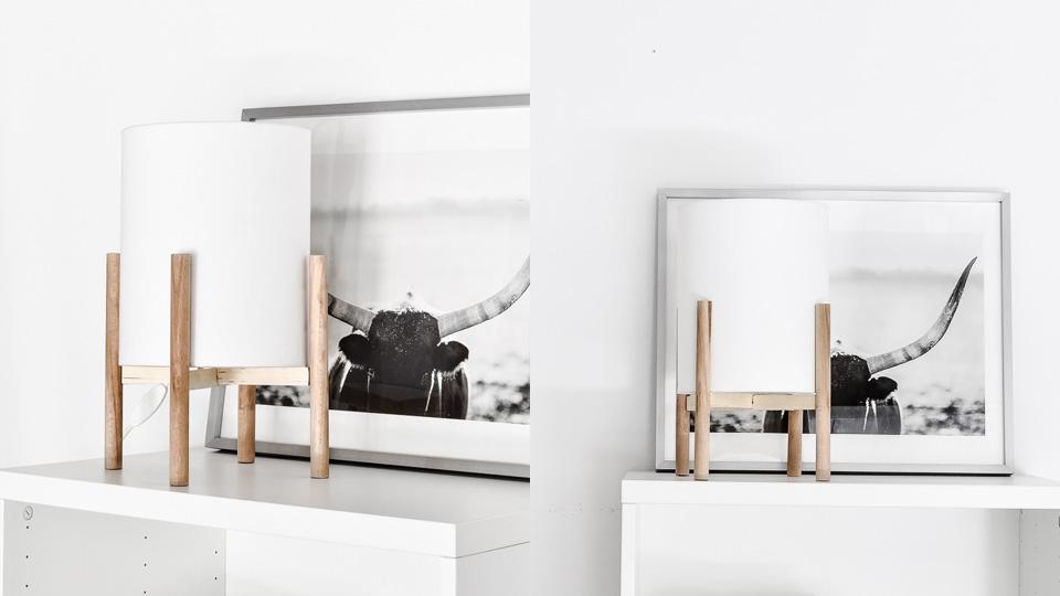 lampe bois contemporaine diy bois