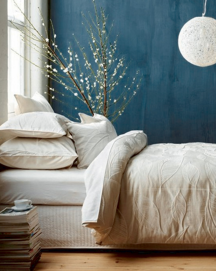 Deco Chambre Gris Beige comment utiliser la couleur bleu canard dans sa déco