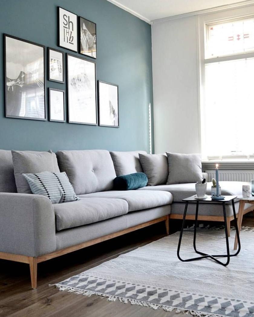 Deco Salon Mur Bleu comment utiliser la couleur bleu canard dans sa déco