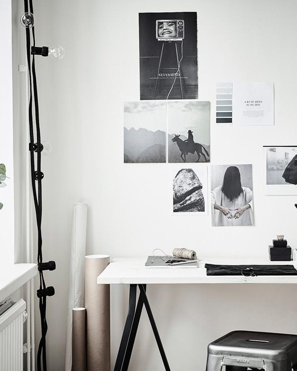 Bureau Noir Et Blanc une déco de studio en noir et blanc | shake my blog