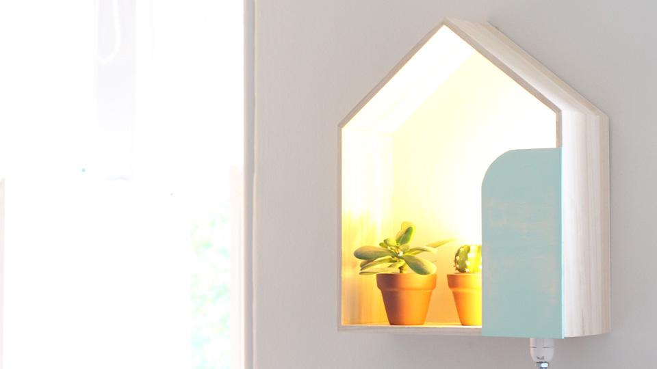 lampe étagère murale maison diy