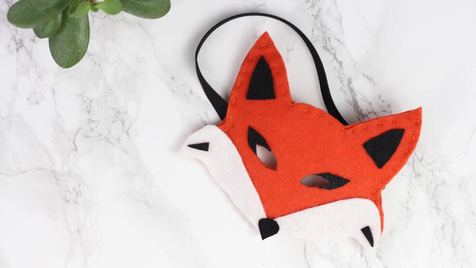 masque renard feutrine diy