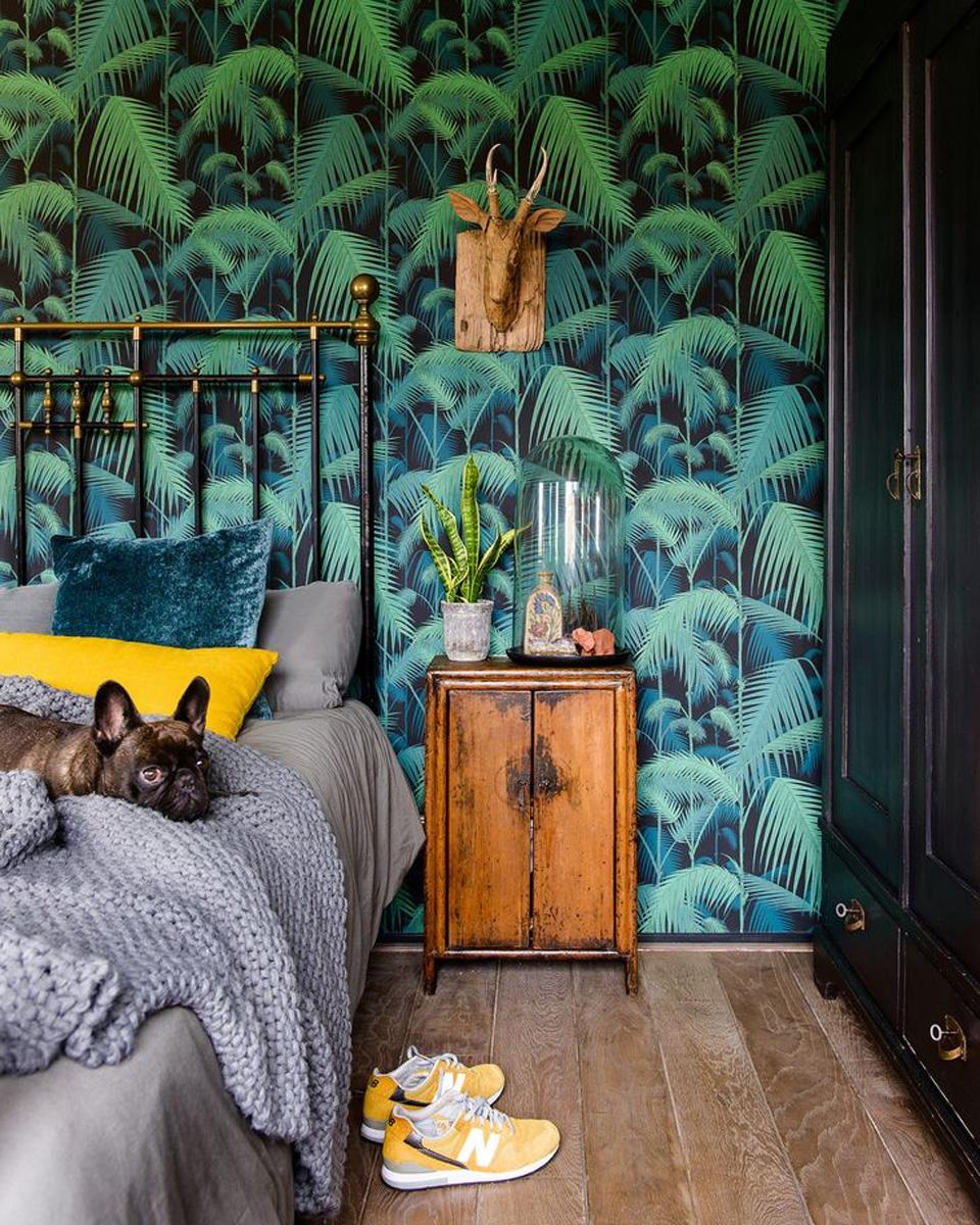 2 Couleurs Papier Peint Dans Une Chambre le papier peint tropical pour décorer votre intérieur