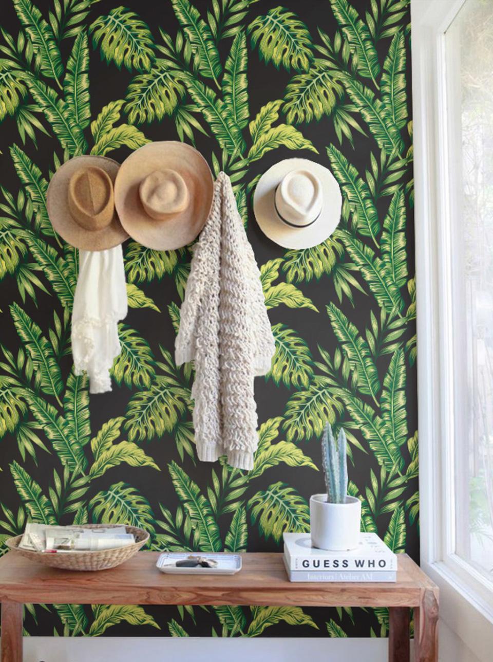 papier peint tropical entree