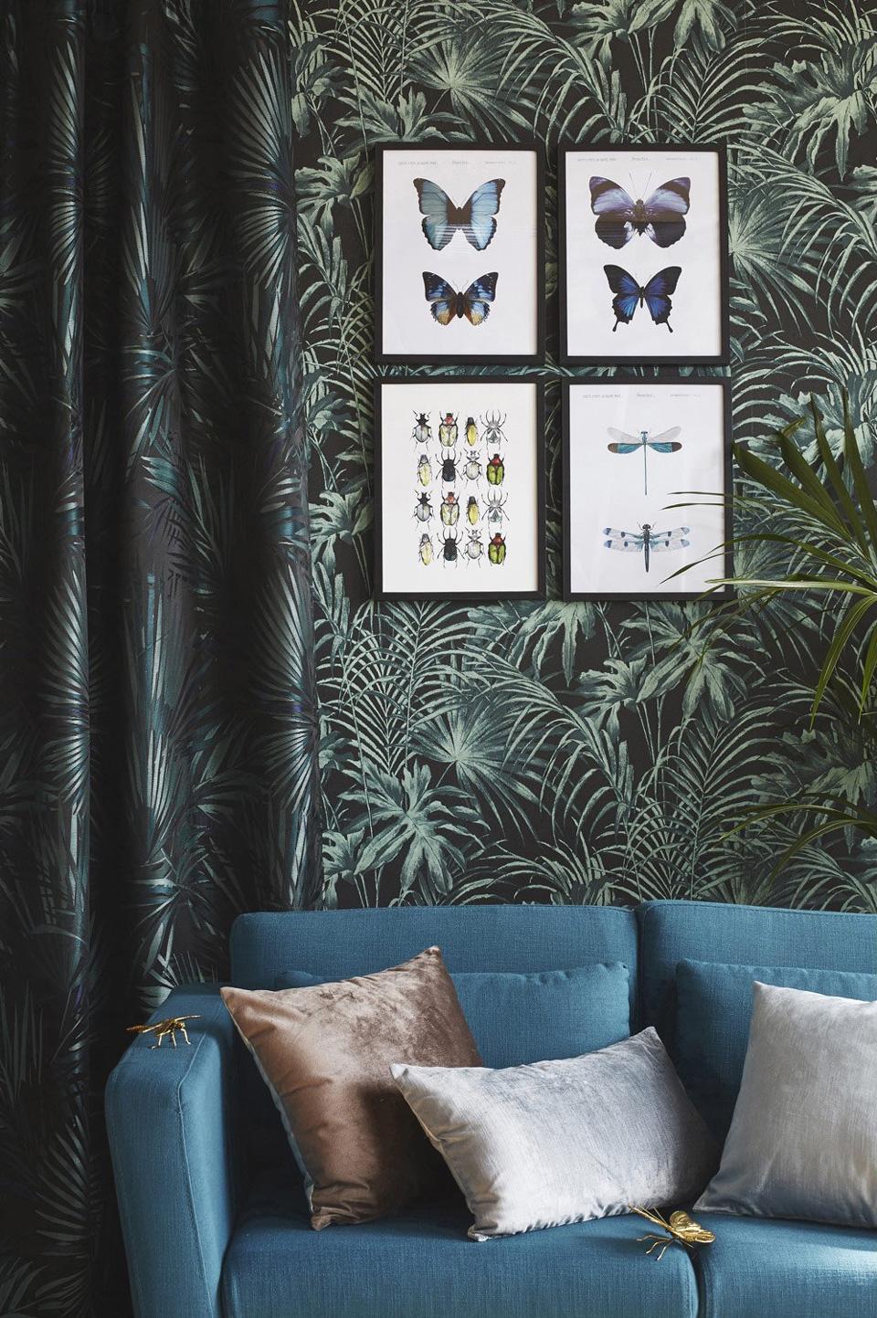 papier peint tropical salon