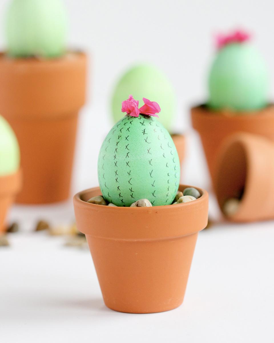 diy oeuf pâques cactus