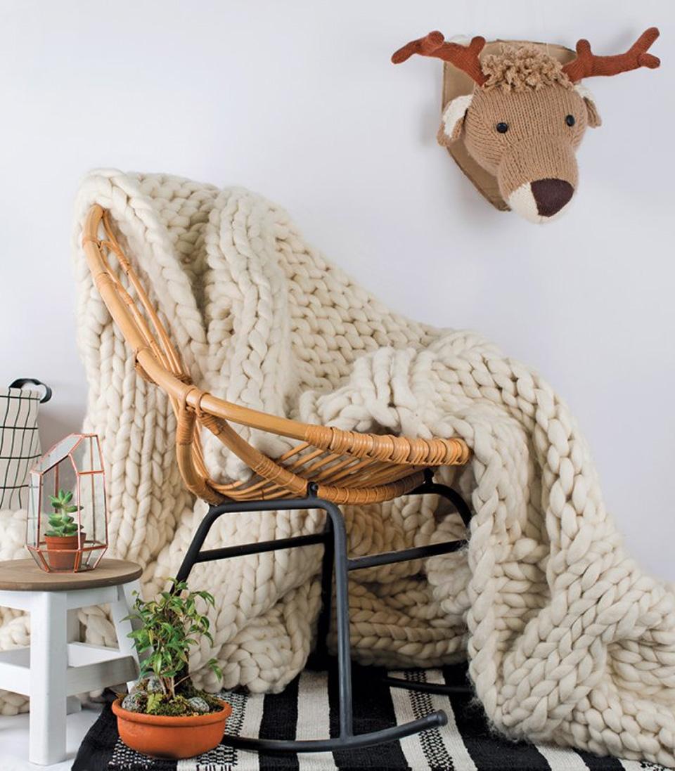 plaid tricot géant xxl diy