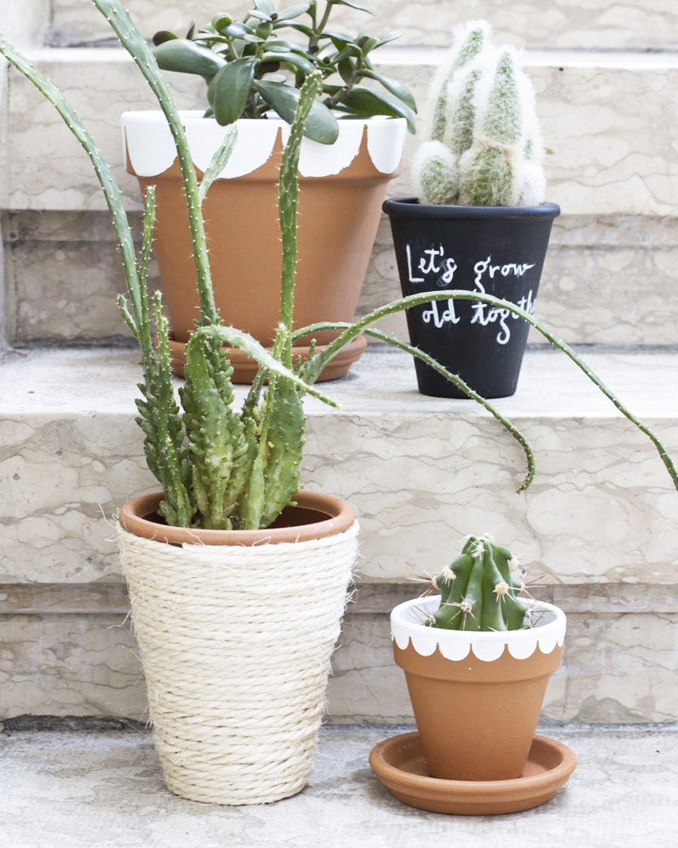 deco ardoise diy pot