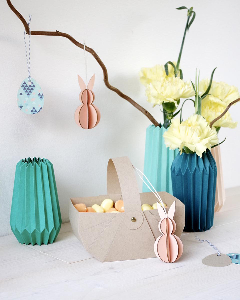 vase diy origami