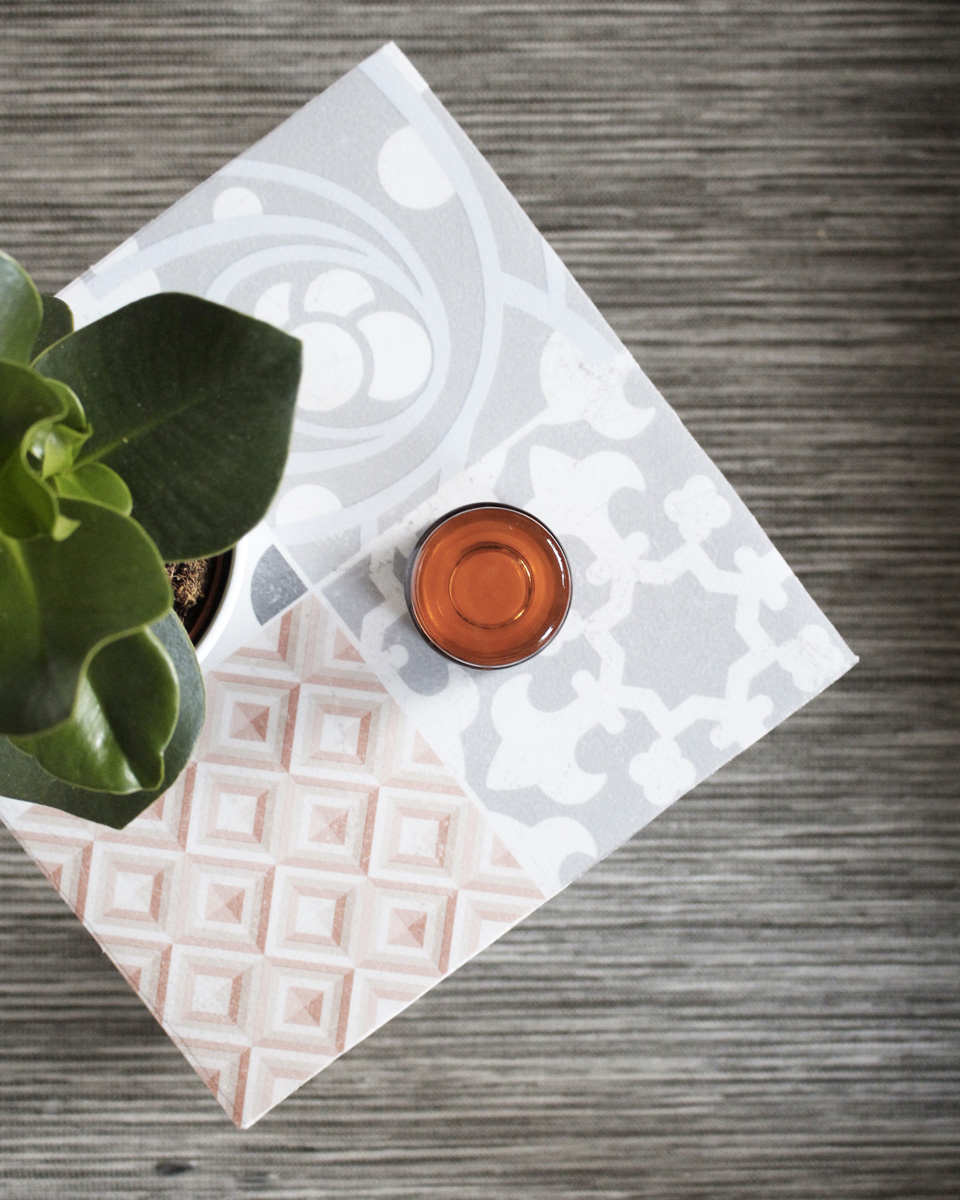 carreaux de ciment diy table