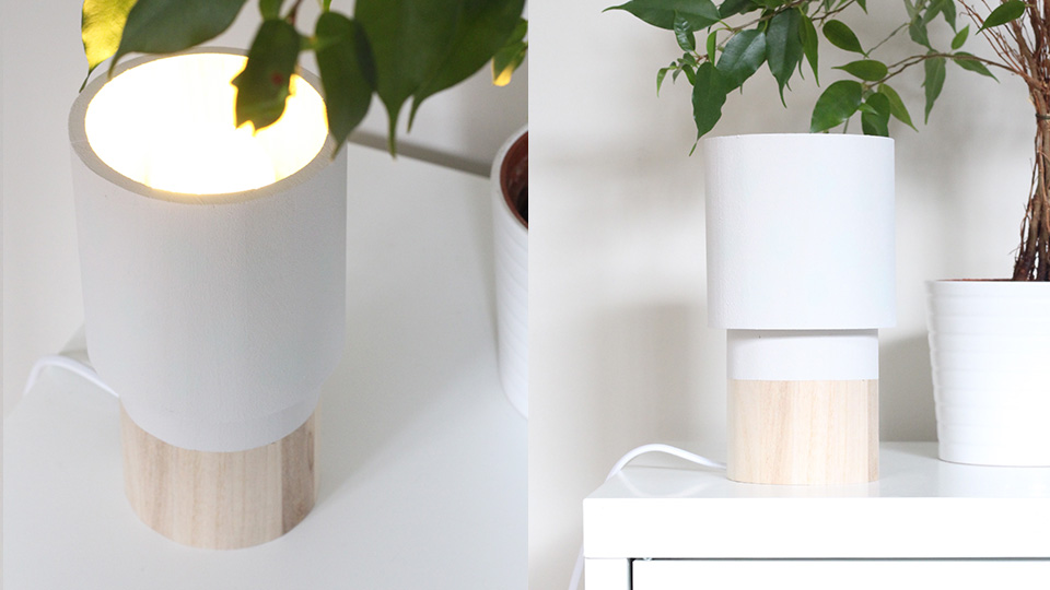 lampe bois tube diy