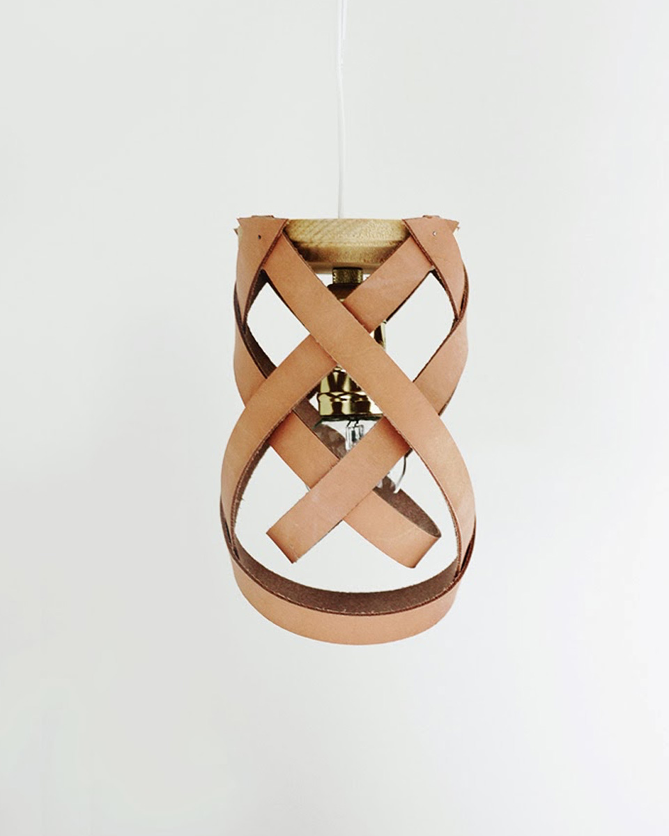 lampe diy suspension cuir