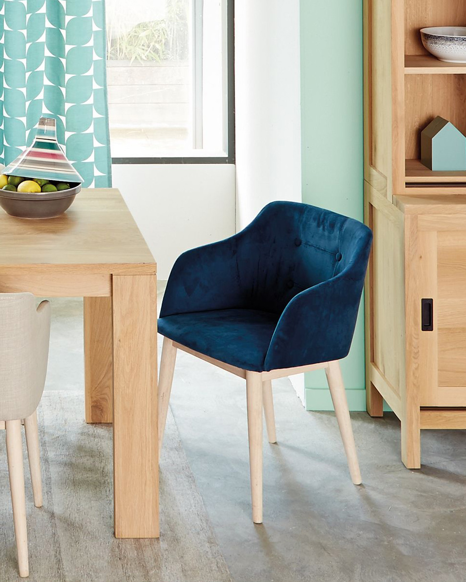 deco chaise bleue