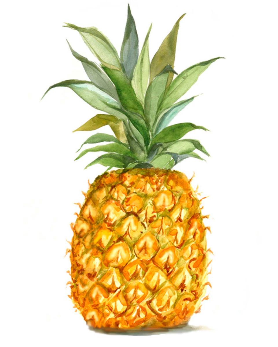affiche été ananas
