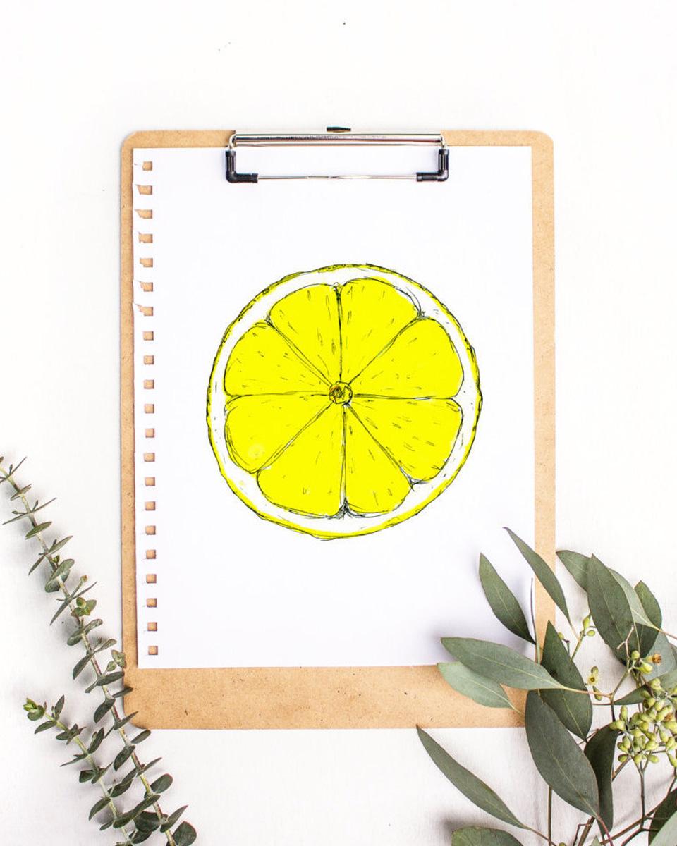 affiche été citron