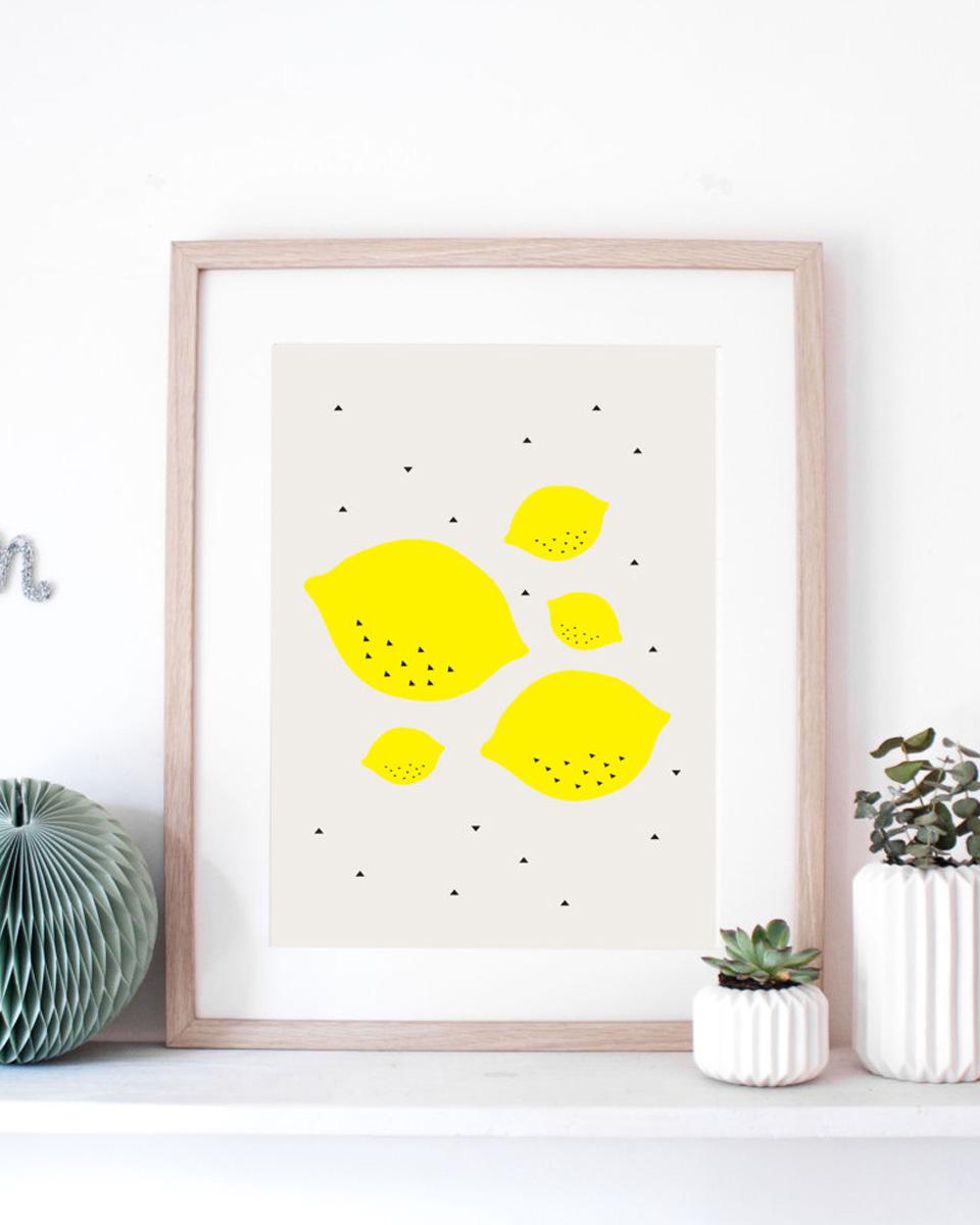 deco jaune affiche