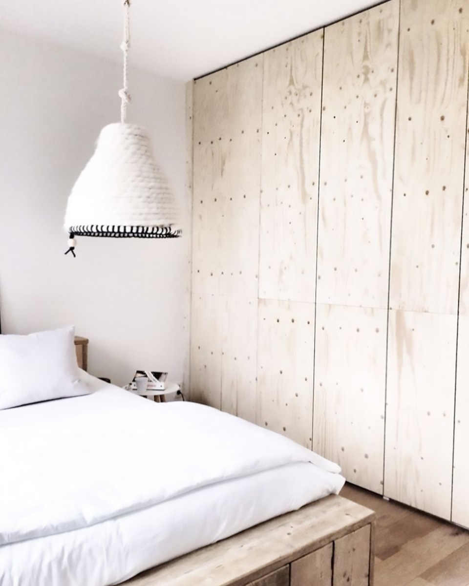 idée deco contreplaqué bois chambre