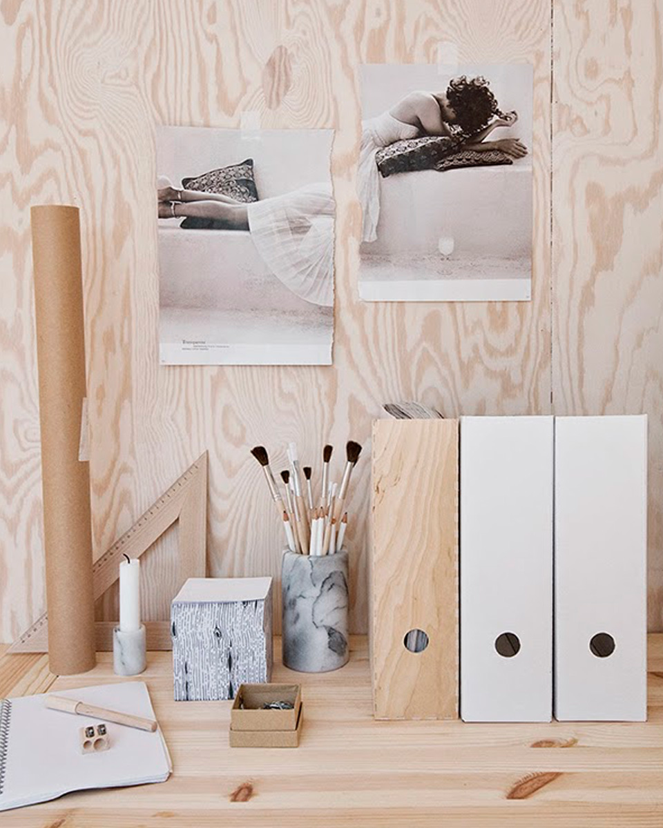 idée deco contreplaqué bois bureau