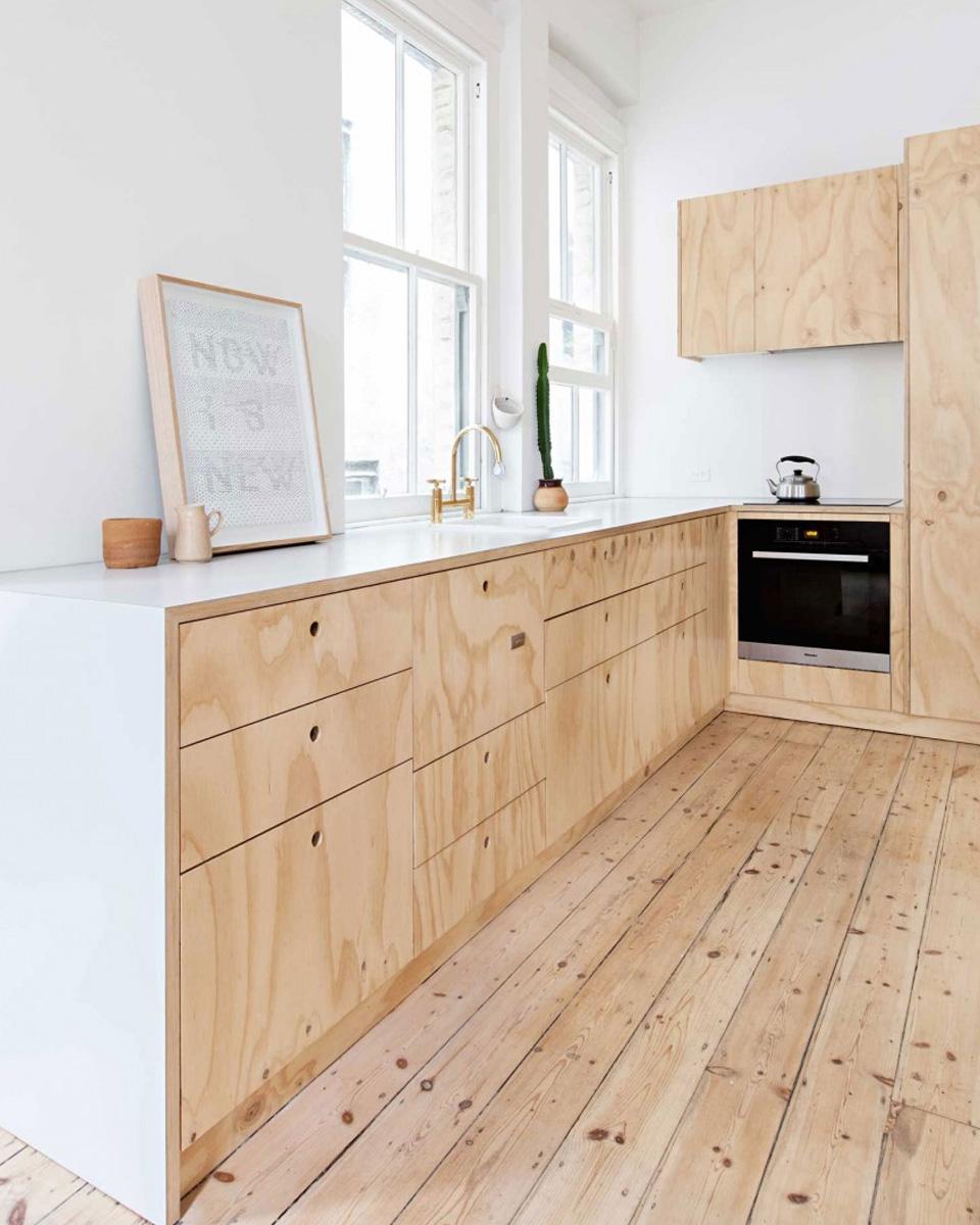 idée deco contreplaqué bois cuisine
