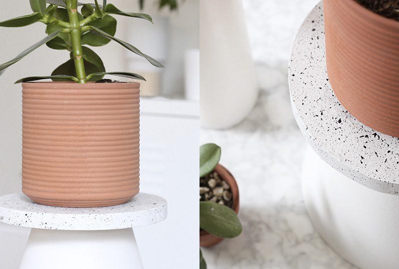 support plante diy granit